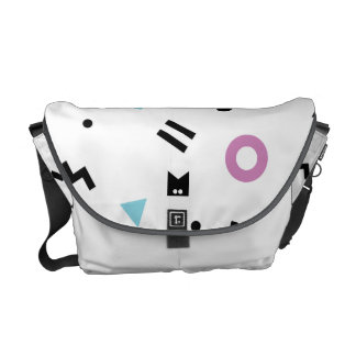 Monogram Series: Retro Eighties Random Shapes Messenger Bag