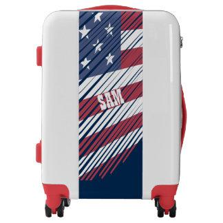Monogram Series: Sketch American Flag. Luggage