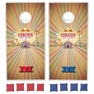 Monogram Series: Vintage Circus Cornhole Set