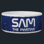 """Monogram Series: Your Pet The Martian. Funny Gift. Bowl<br><div class=""""desc"""">See Space. Designed by Starline / Freepik  Available here: http://www.zazzle.com/produkto</div>"""