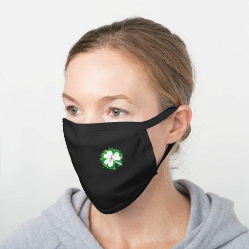 Monogram Shamrock Black Cotton Face Mask