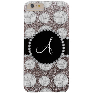 Monogram silver glitter volleyballs barely there iPhone 6 plus case