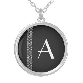 Monogram Silver Plated Necklace