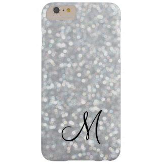 Monogram Silver Sparkle iPhone 6 Plus Case