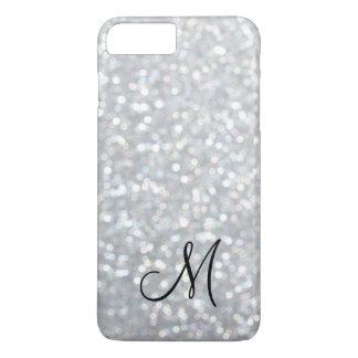 Monogram Silver Sparkle iPhone 7 Plus Case