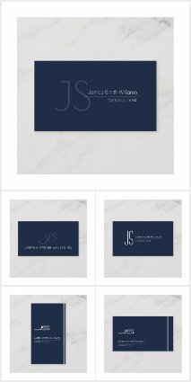 Monogram Simple Minimal Business Cards