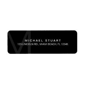 Monogram Simple Modern Minimalist Black Label
