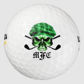 Monogram Skull and Crossed Golf Clubs Golf Balls