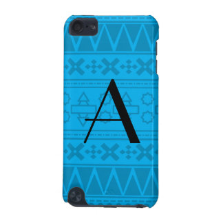 Monogram sky blue aztec pattern iPod touch (5th generation) cases