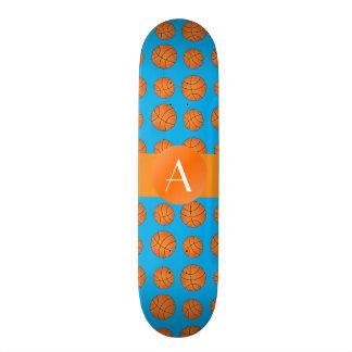 Monogram sky blue basketballs custom skate board