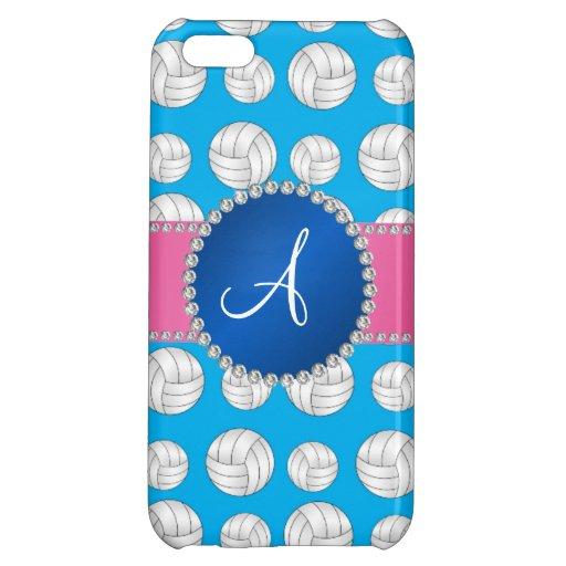Monogram sky blue volleyballs blue circle iPhone 5C cases