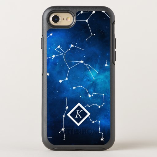 Monogram Sky Map Constellation Astronomy Lover OtterBox Symmetry iPhone 8/7 Case
