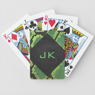 Monogram Snake Green and Black Bicycle Playing Cards
