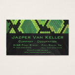 Monogram Snake Green and Black Business Card