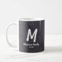 Monogram, Snow flakes, Family Coffee Mug