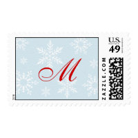 Monogram Snowflake Christmas Postage Stamp