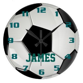 Monogram Soccer Ball Large Clock