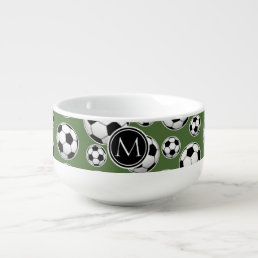 Monogram Soccer - Tree Top Soup Mug