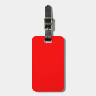 Monogram Solid Red Luggage Tag