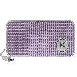 Monogram Speaker  | Purple and White  Houndstooth