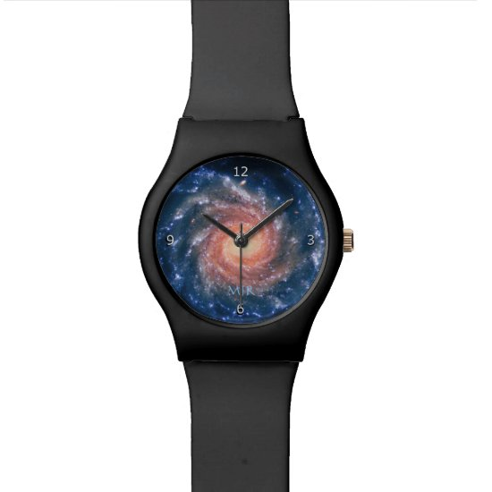 Monogram, Spiral Galaxy deep space astronomy imag Watch