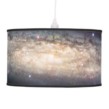 Monogram Spiral Galaxy outer space picture Ceiling Lamp