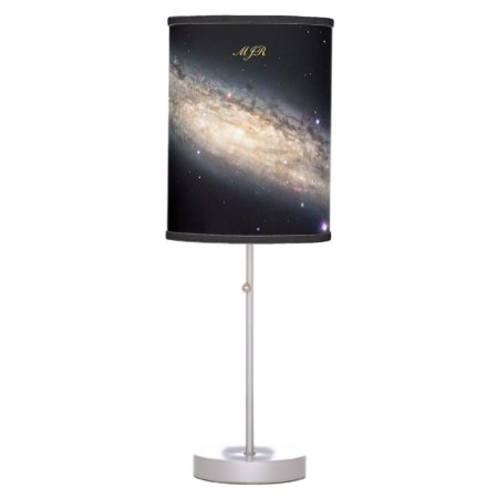 Monogram Spiral Galaxy outer space picture Table Lamp