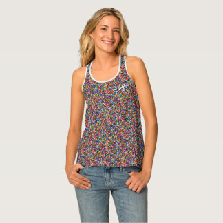 Monogram Sprinkles Colorful Print Pattern for Her Tank Top