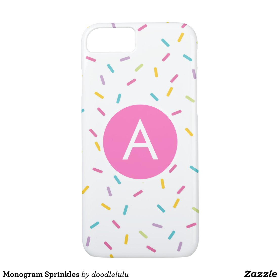 Monogram Sprinkles iPhone 8/7 Case