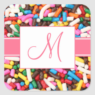 Monogram Sprinkles Stickers