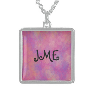 monogram Square sterling silver necklace
