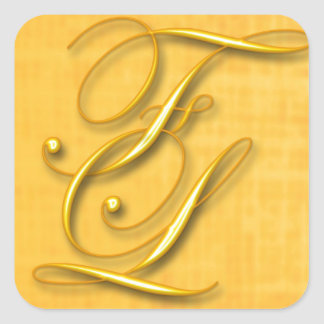 Monogram Square Sticker