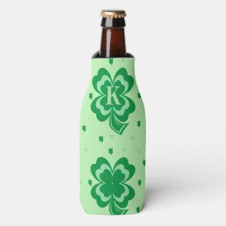 Monogram St Patricks Day Bottle Cooler