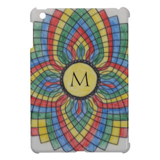 Monogram Stained Glass Graphic iPad Mini Cover