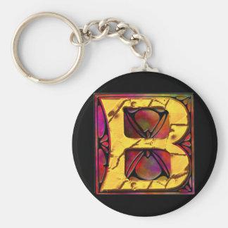 Monogram: Stainglass B Key Chain