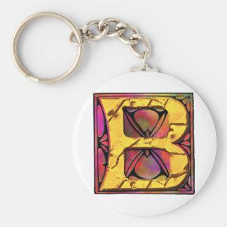 Monogram: Stainglass B Key Chains