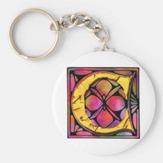Monogram: Stainglass C Key Chains