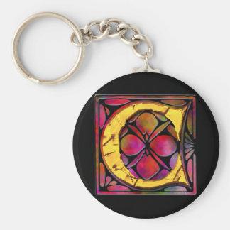 Monogram: Stainglass C Keychains