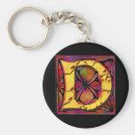 Monogram: Stainglass D Key Chain
