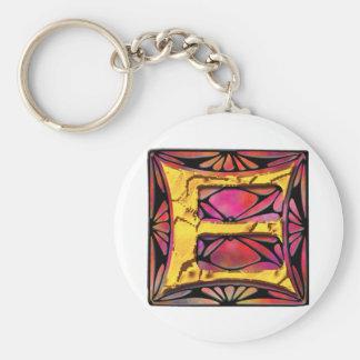 Monogram: Stainglass E Key Chains
