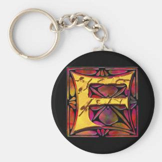 Monogram: Stainglass F Keychains