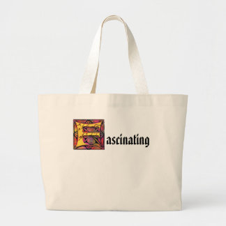 Monogram: Stainglass F Large Tote Bag