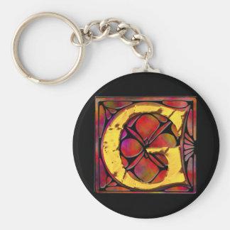 Monogram: Stainglass G Keychain