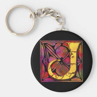 Monogram: Stainglass J Keychains