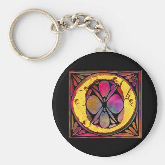 Monogram: Stainglass O Keychain