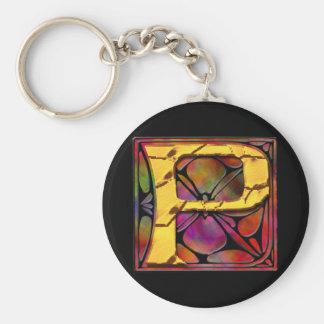 Monogram: Stainglass P Keychains