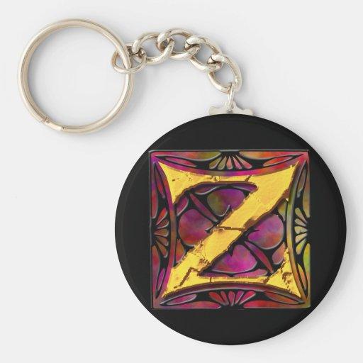 Monogram: Stainglass Z Keychain