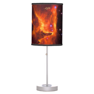 Monogram, Star Cluster Pismis 24 outer space image Table Lamp