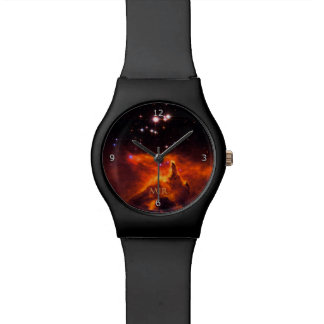 Monogram, Star Cluster Pismis 24 outer space image Wrist Watches
