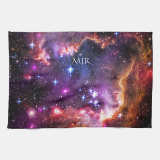 Monogram Starry Wingtip of Small Magellanic Cloud Kitchen Towels